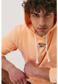 Reebok Classic - Bluza. Okazja: na co dzień. Kolor: pomarańczowy. Materiał: dzianina. Styl: casual