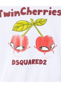 DSQUARED2 KIDS - Biała koszulka z kolorowym nadrukiem 4-12 lat. Kolor: biały. Materiał: bawełna. Wzór: kolorowy, nadruk. Sezon: lato. Styl: klasyczny