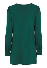 Cellbes Jednokolorowa tunika z dżerseju ciemnozielony female zielony 58/60. Kolor: zielony. Materiał: jersey. Długość rękawa: długi rękaw. Długość: długie