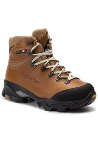 Brązowe buty trekkingowe Zamberlan Gore-Tex, trekkingowe, z cholewką