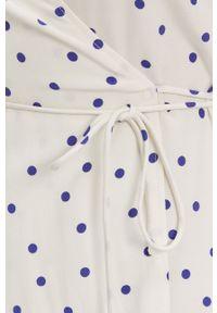 Samsoe & Samsoe - Samsoe Samsoe - Sukienka. Okazja: na co dzień. Kolor: beżowy. Materiał: włókno, tkanina, materiał. Typ sukienki: proste. Styl: casual