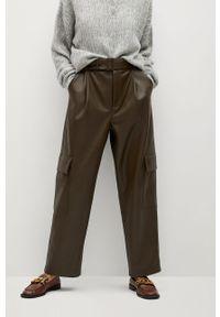 Spodnie materiałowe mango z podwyższonym stanem