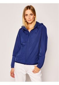Niebieska kurtka przeciwdeszczowa Lacoste