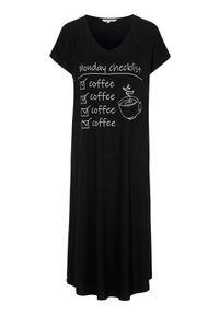 Cellbes Miękka koszula nocna Czarny female czarny 58/60. Kolor: czarny. Materiał: jersey, wiskoza, włókno. Długość: krótkie