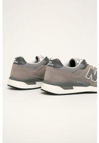 Szare sneakersy New Balance na sznurówki, z cholewką, z okrągłym noskiem