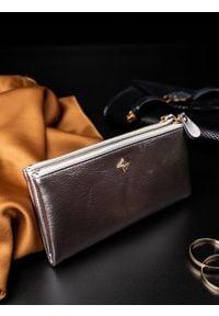 Srebrny portfel MILANO DESIGN z motywem zwierzęcym