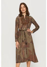 Sukienka Desigual na co dzień, z haftami, midi, casualowa