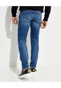 Balmain - BALMAIN - Jeansy z wąską nogawką. Okazja: na co dzień. Kolor: niebieski. Styl: casual, klasyczny