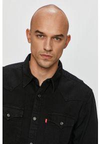 Czarna koszula Levi's® z długim rękawem, casualowa, z klasycznym kołnierzykiem, na spotkanie biznesowe