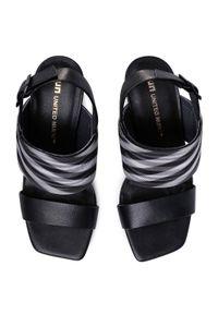 Czarne sandały United Nude casualowe, na co dzień