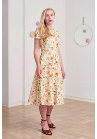 Marie Zélie - Sukienka Galatea Juncea. Materiał: bawełna, skóra, materiał, elastan. Długość rękawa: krótki rękaw
