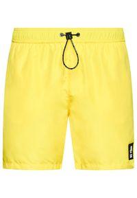 Karl Lagerfeld - KARL LAGERFELD Szorty kąpielowe Basic KL21MBM01 Żółty Regular Fit. Kolor: żółty