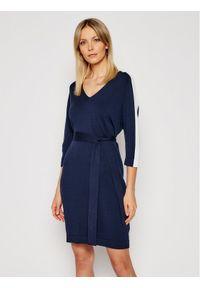 Niebieska sukienka dzianinowa Marella