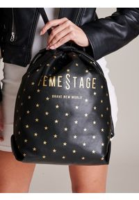 Czarna torebka FEMESTAGE Eva Minge zdobiona, z aplikacjami