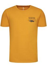 Converse T-Shirt 10019934-A03 Żółty Regular Fit. Kolor: żółty #4