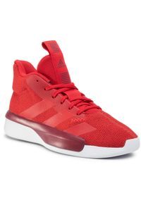 Czerwone buty do koszykówki Adidas