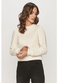 Biała bluza Haily's długa, na co dzień, bez kaptura