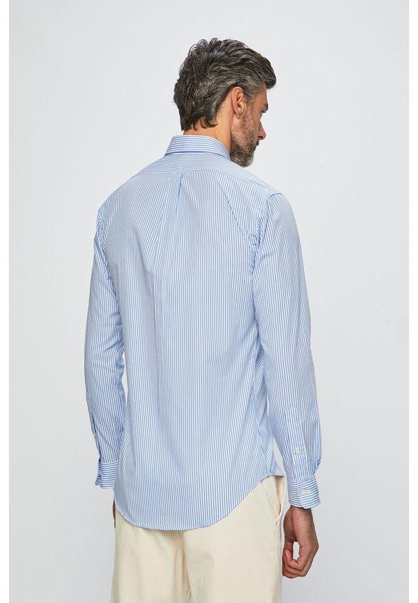 Niebieska koszula Polo Ralph Lauren długa, casualowa, na co dzień, polo