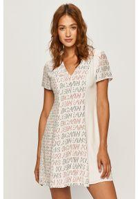 Biała sukienka Calvin Klein Jeans casualowa, mini, na co dzień