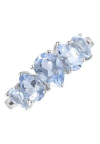 Braccatta - STARLIGHT Srebrny pierścionek z topazem, delikatny 2,8 ct. Materiał: srebrne. Kolor: srebrny. Kamień szlachetny: topaz