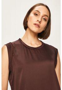 Brązowa bluzka DKNY casualowa, bez rękawów, na co dzień