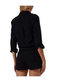 Melissa Odabash - MELISSA ODABASH - Czarny krótki kombinezon Honour. Kolor: czarny. Długość rękawa: długi rękaw. Długość: krótkie. Styl: elegancki