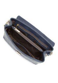 Wittchen - Kuferek z pikowanej skóry z łańcuszkiem. Kolor: niebieski. Wzór: haft. Dodatki: z haftem. Materiał: skórzane. Styl: wakacyjny, elegancki, casual. Rodzaj torebki: do ręki