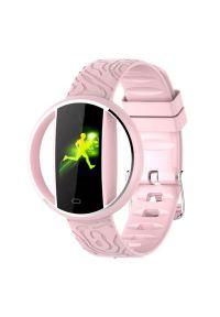 Różowy zegarek GARETT smartwatch, elegancki