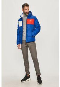 Niebieska kurtka Tommy Jeans na co dzień, z kapturem, casualowa
