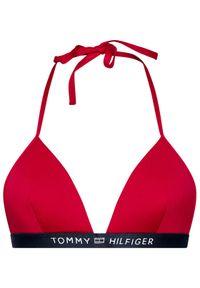 TOMMY HILFIGER - Tommy Hilfiger Góra od bikini Triangle Fixed UW0UW02708 Różowy. Kolor: różowy