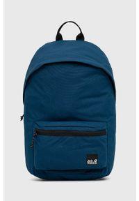 Jack Wolfskin - Plecak. Kolor: niebieski. Materiał: materiał