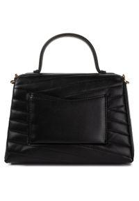 Czarna torebka klasyczna Tory Burch skórzana, klasyczna