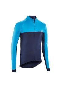 TRIBAN - Bluza rowerowa Triban RC100. Materiał: poliester, materiał, elastan. Długość rękawa: długi rękaw. Długość: krótkie