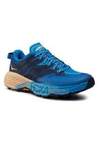 Niebieskie buty do biegania Hoka One One z cholewką, na co dzień