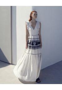 Devotion Twins - Bawełniana sukienka MAXI z greckimi motywami Devotion. Materiał: bawełna. Długość: maxi