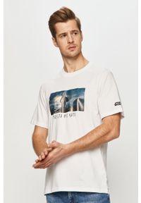 Biały t-shirt Element z motywem z bajki, na co dzień, casualowy