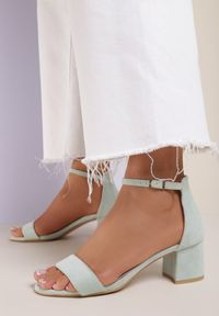 Miętowe sandały Renee