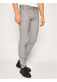 BOSS - Boss Spodnie materiałowe Delaware3-10-20 50425117 Szary Slim Fit. Kolor: szary. Materiał: materiał