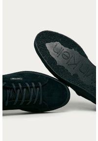 Niebieskie sneakersy Calvin Klein z cholewką, na sznurówki