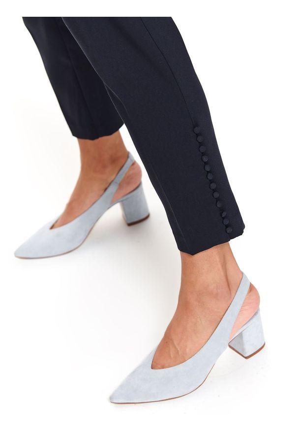 Niebieskie spodnie TOP SECRET eleganckie, do pracy