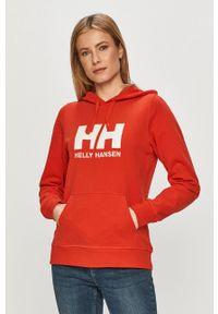 Helly Hansen - Bluza. Typ kołnierza: kaptur. Kolor: czerwony. Długość rękawa: długi rękaw. Długość: długie