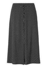 Happy Holly Spódnica Frida Czarny w kropki female czarny/ze wzorem 32/34. Kolor: czarny. Materiał: tkanina, materiał, guma. Wzór: kropki