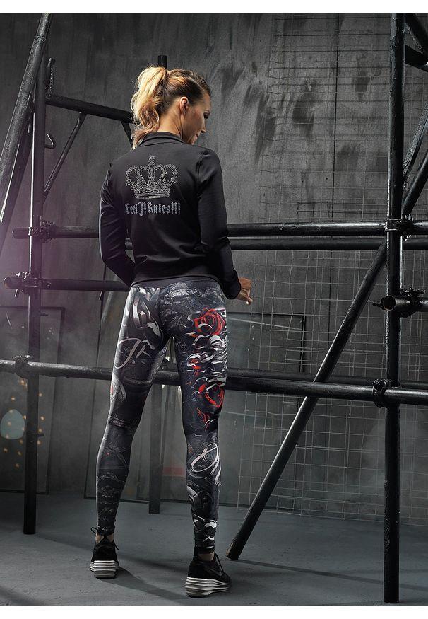 FJ! - Bluza RULES. Materiał: dzianina, poliester, elastan. Wzór: aplikacja. Sport: fitness