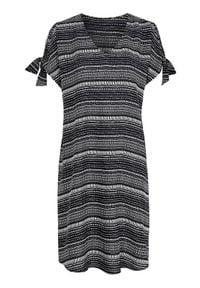 Cellbes Sukienka plażowa we wzory Czarny biały female czarny/biały 50/52. Kolor: czarny, biały, wielokolorowy