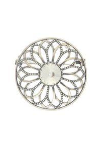 Polcarat Design - Broszka z kryształem Swarovskiego B 1758. Materiał: srebrne. Wzór: aplikacja. Kamień szlachetny: kryształ