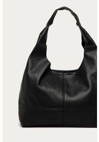 Czarna shopperka Answear Lab duża, wakacyjna