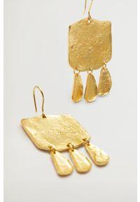 Złote kolczyki mango metalowe