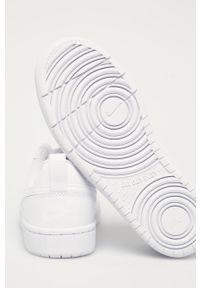 Białe buty sportowe Nike Kids na sznurówki, z cholewką