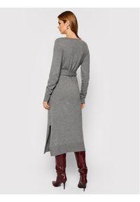 Trussardi Jeans - Trussardi Sukienka dzianinowa 56D00402 Szary Regular Fit. Kolor: szary. Materiał: dzianina