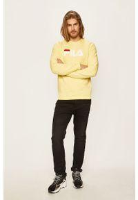 Żółta bluza nierozpinana Fila na co dzień, z nadrukiem